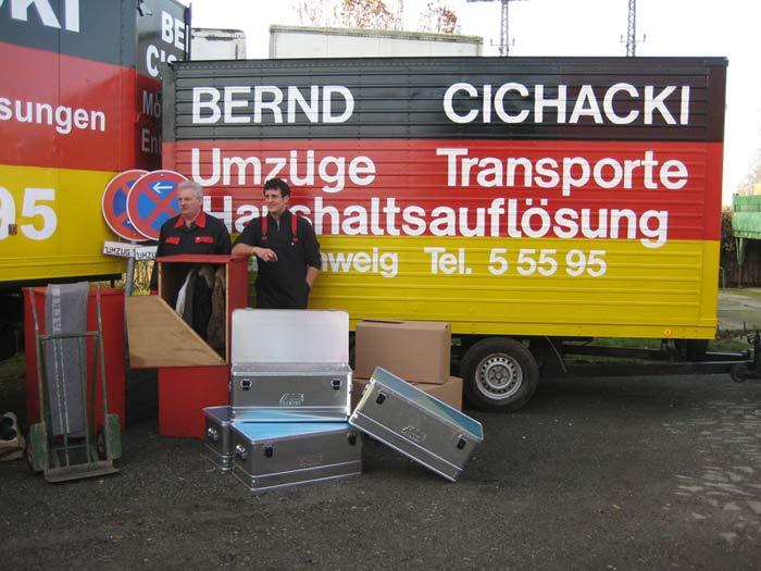 Bernd und Alex Cichacki